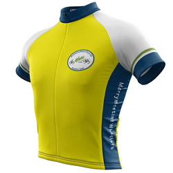 Mens Merrymeeting Wheelers Yellow Cycling Jersey